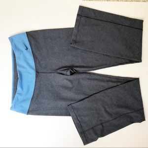 Nike Dri-Fit Grey Straight Leg Pants Leggings Yoga